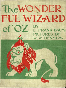 The Wizard of Oz L. Frank Baum first edition cover 1900