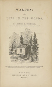 Walden Thoreau first edition cover