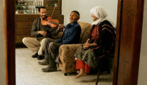 Ramzi and his grandparents, Al Amari refugee camp: Georges Bartoli.