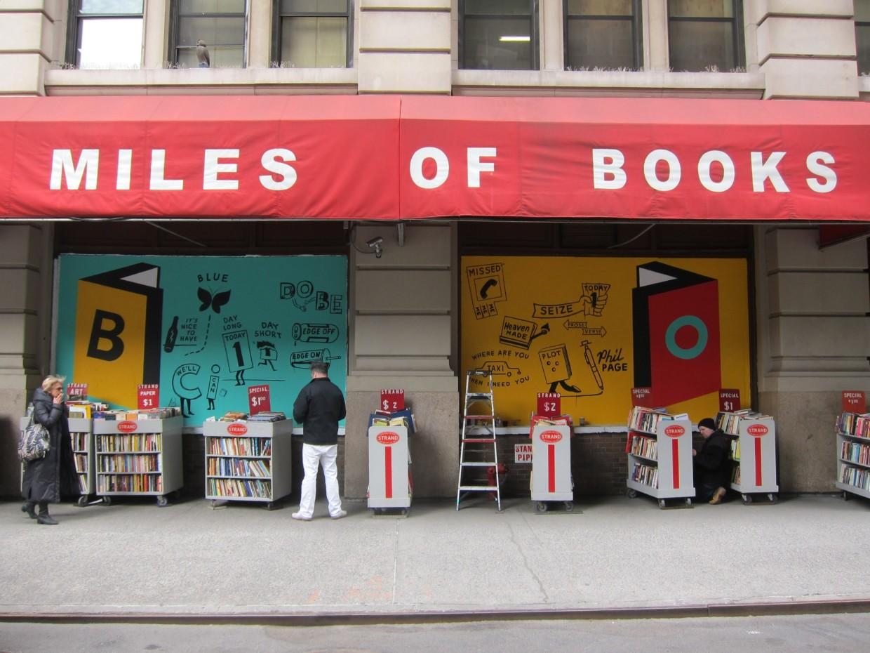 Strand Bookcarts Mural
