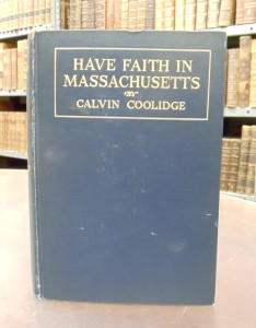 Have Faith in Massachusetts, by Calvin Coolidge