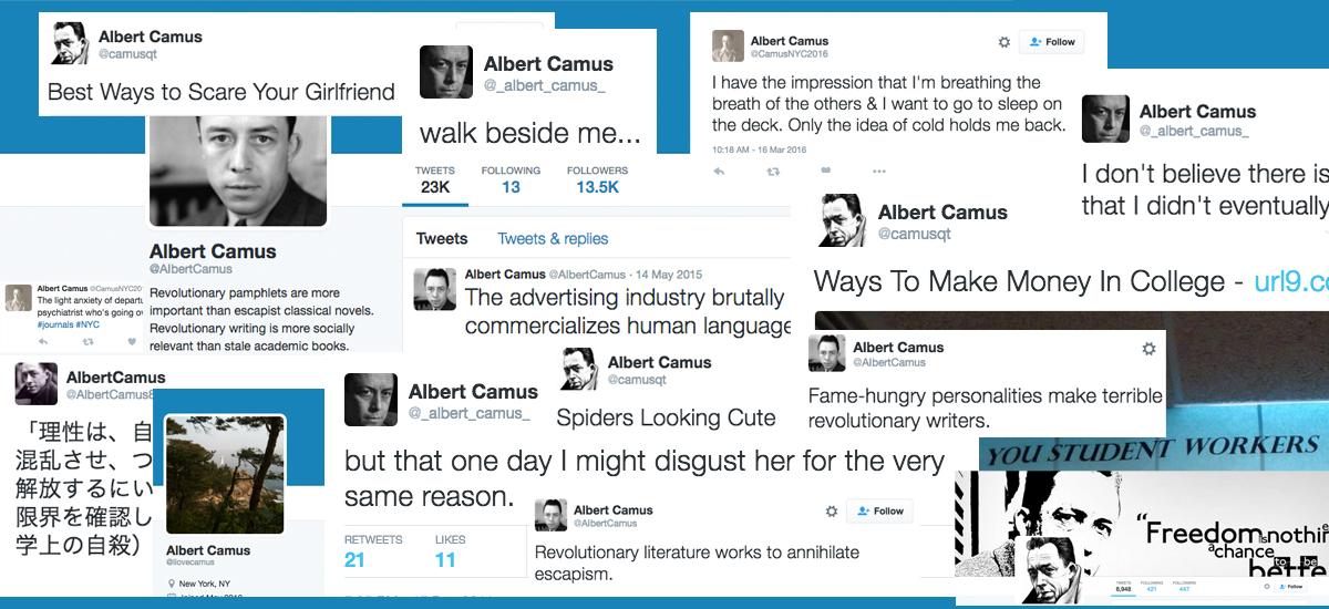 The Modern Sisyphus: Albert Camus Goes Online