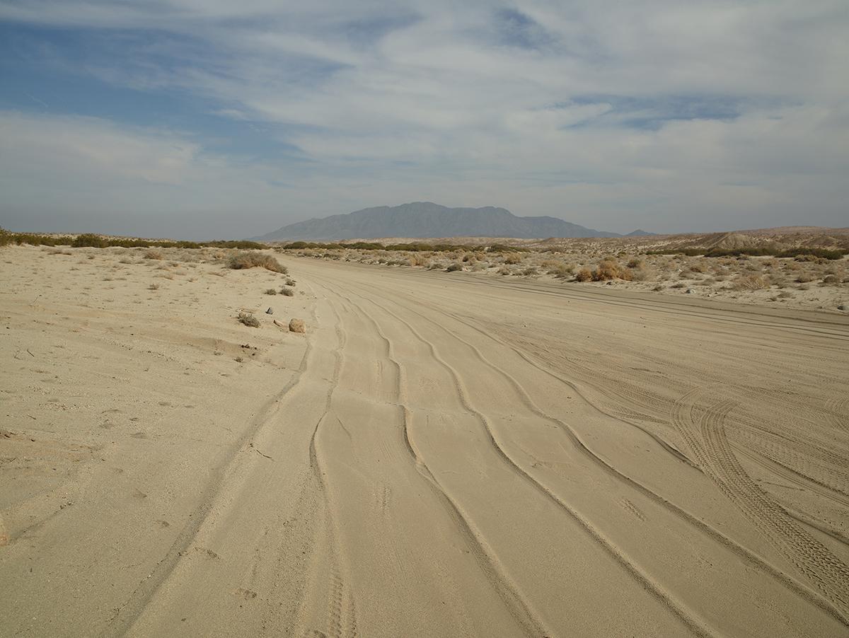 The drag tracks, near Calexico, California, 2014