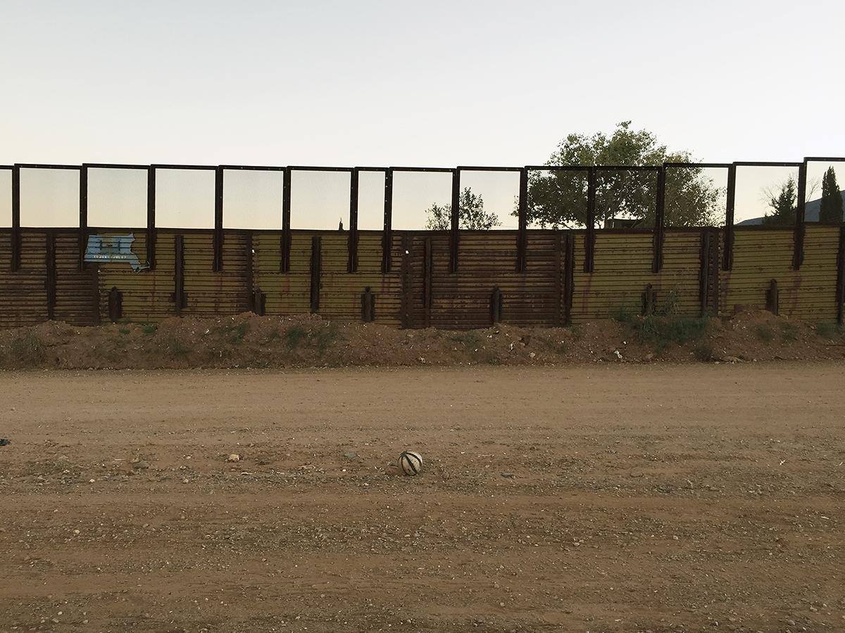 Soccer ball, Naco, Arizona, 2014