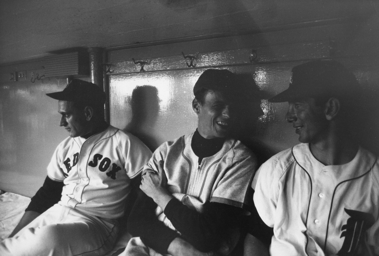 OUT OF MY LEAGUE_GP in dugout w Billy Martin