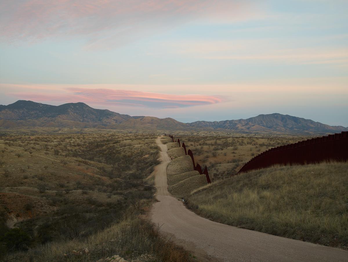 Wall, east of Nogales, Arizona, 2015