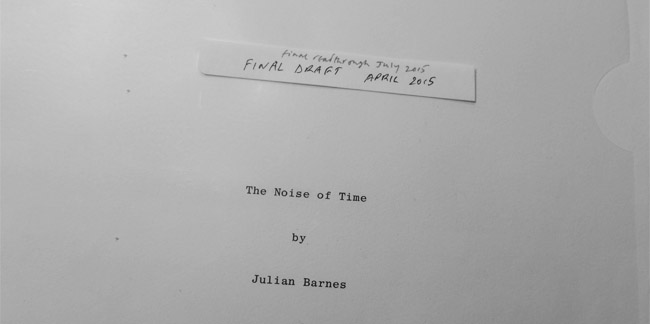 the noise of time manuscript