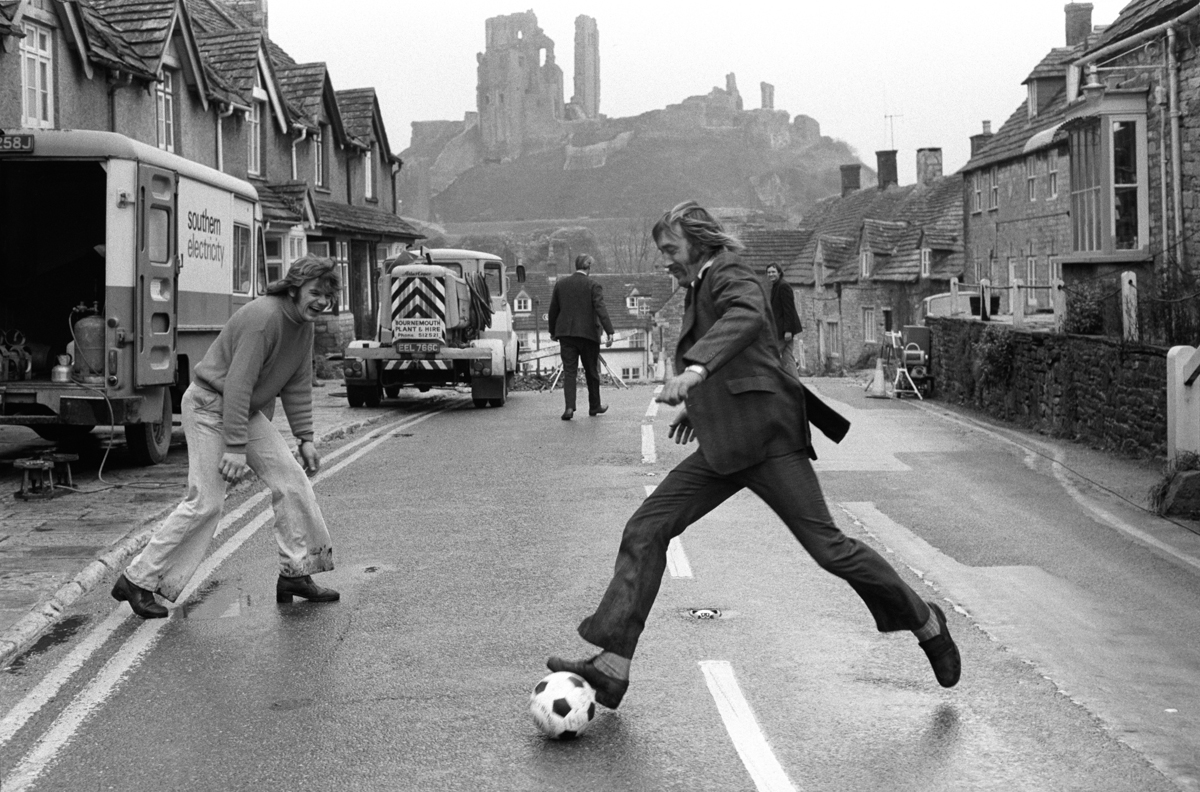 Purbeck Marblers, at the annual Shrove Tuesday football game. C