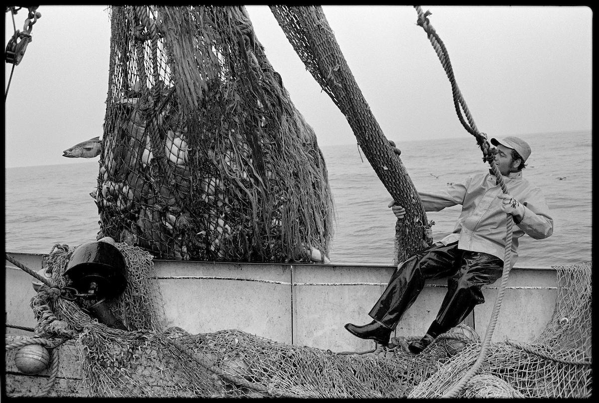 Hauling Back Nets, Joseph & Lucia II, GeorgesBank, 1980