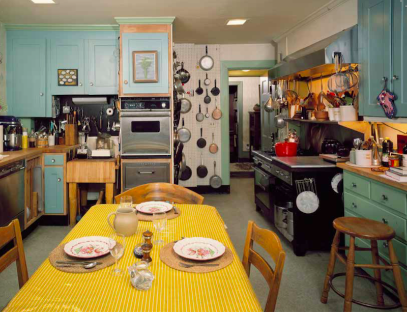 Julia's kitchen, looking east from the refrigerator end.