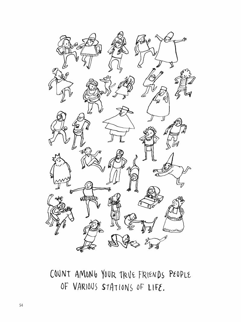 ron padgett jason novak how to be perfect illustration