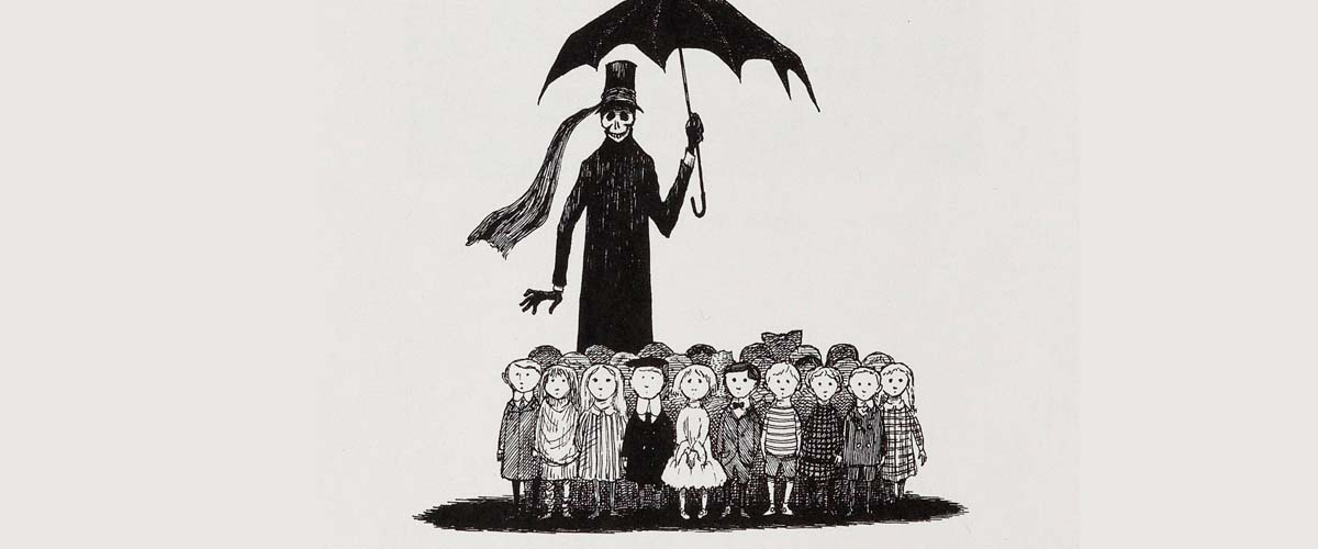 On the Dark(er) Side of the Perpetually Dark Edward Gorey | Literary Hub
