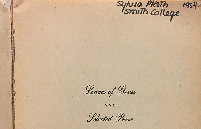 Sylvia Plath's copy of Leaves of Grass