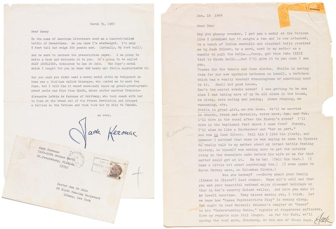 Letters by Jack Kerouac to Dan DeSole