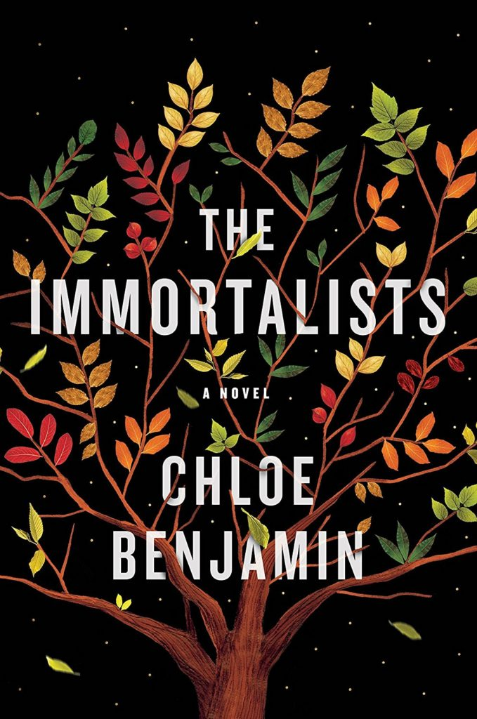 Chloe Benjamin, <em>The Immortalists</em>, design and illustration by Sandra Chiu (Putnam)