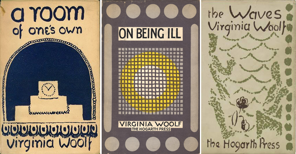 A Room of One's Own (1929), On Being Ill (1930), The Waves (1931); design by Vanessa Bell
