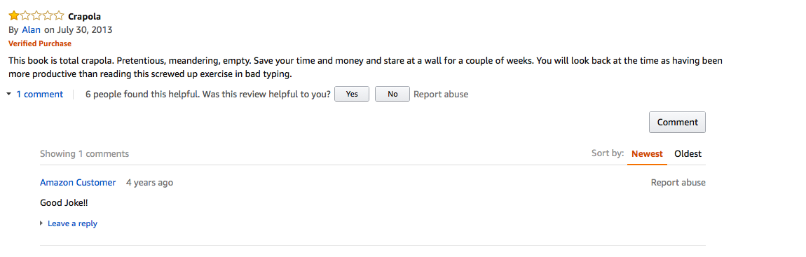 The 50 Best One-Star Amazon Reviews of Thomas Pynchon's