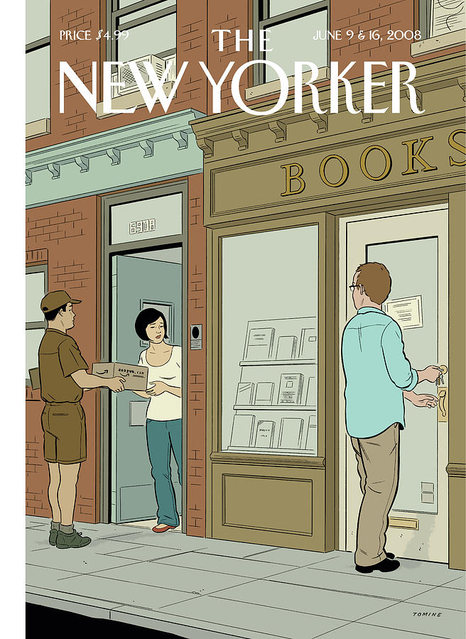 """Book Lovers,"" by Adrian Tomine, June 9, 2008"