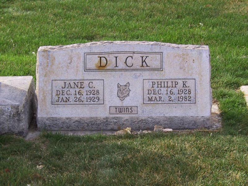 philip k dick grave