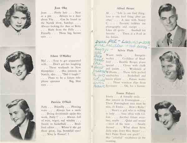 Sylvia Plath's yearbook
