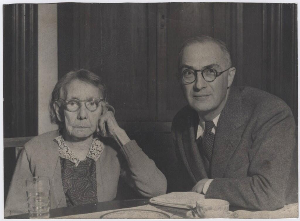 William Carlos Williams with his mother