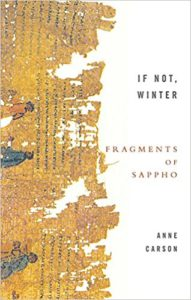 sappho anne carson if not winter