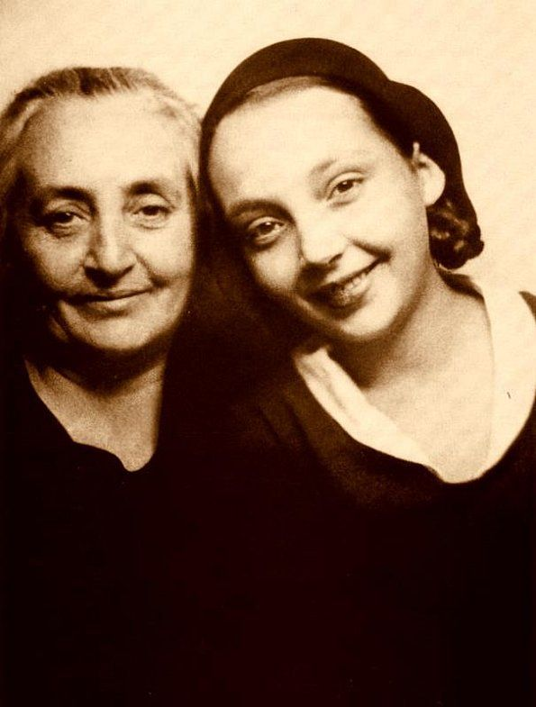 Marguerite Duras with her mother