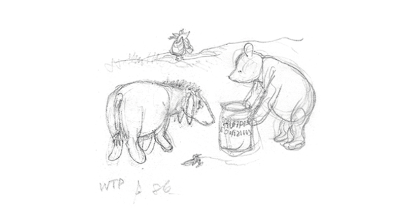 1eec5241 Some of the First Sketches of Winnie-the-Pooh   Literary Hub