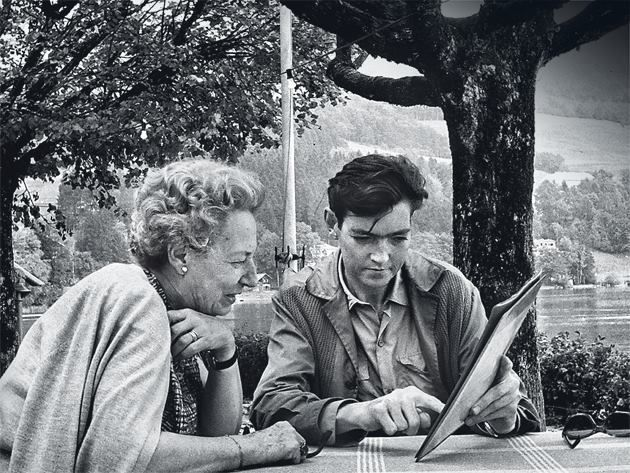 Julio Cortazar with his mother