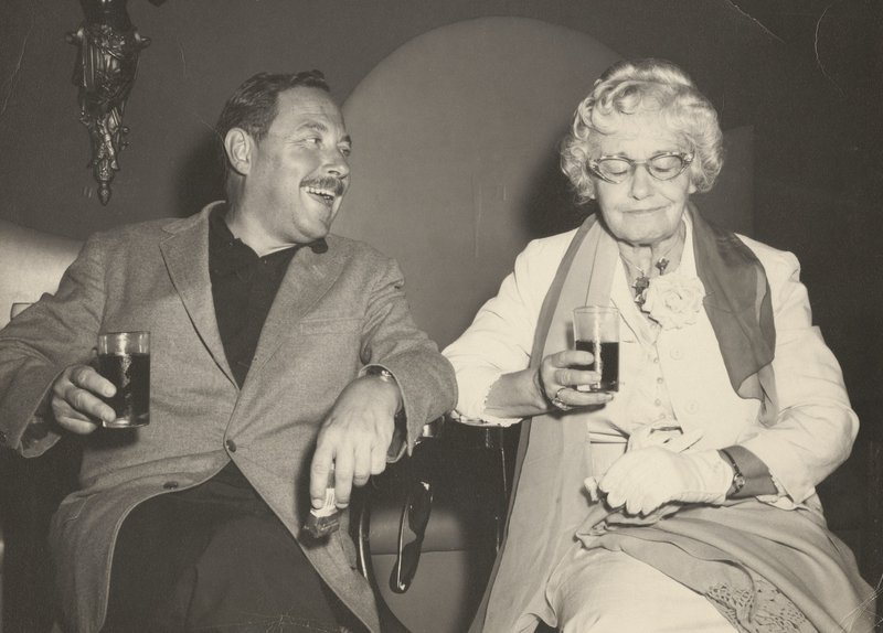 Tennessee Williams with his mother