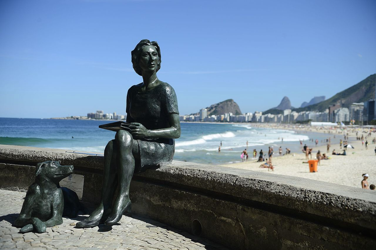 Clarice Lispector statue beach