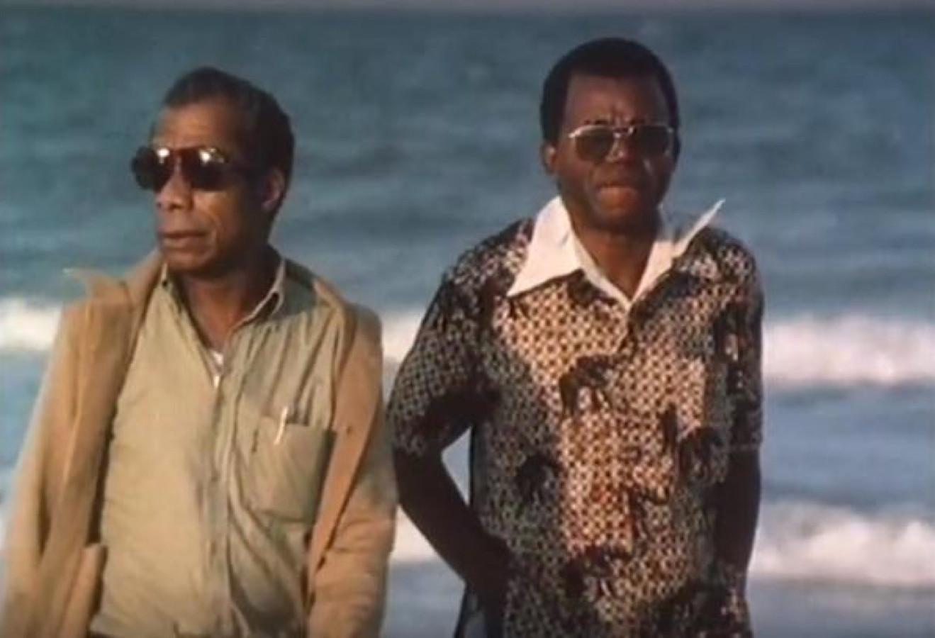 James Baldwin and Chinua Achebe on the beach