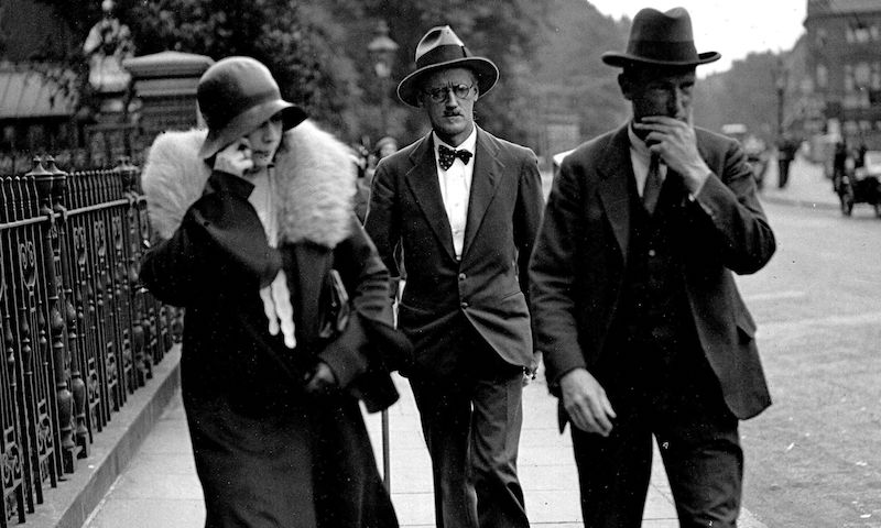 James Joyce and Nora Barnacle on their wedding day