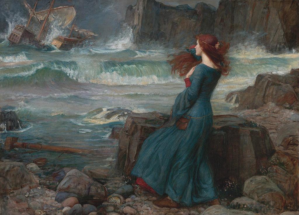 """Miranda,"" by John William Waterhouse, 1916"