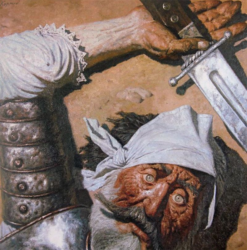 """""""Don Quixote Defeated,"""" by Gely Korzhev, 1990"""