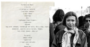 Joan Didion packing list