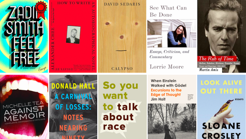 essays, Zadie Smith, Feel Free, Michelle Tea, Against Memoir, Alexander Chee, Lorrie Moore, David Sedaris, Calypso
