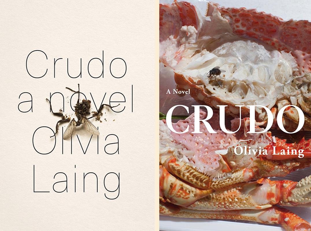 Olivia Laing, <em>Crudo</em>: US cover design by tk tk (Norton); UK cover design by Justine Anweiler, photograph by Wolfgang Tillmans (Picador UK)