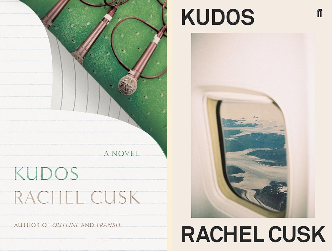 Rachel Cusk, <em>Kudos</em>: US cover design by Strick&Williams (FSG); UK cover design by tk tk (Faber & Faber)