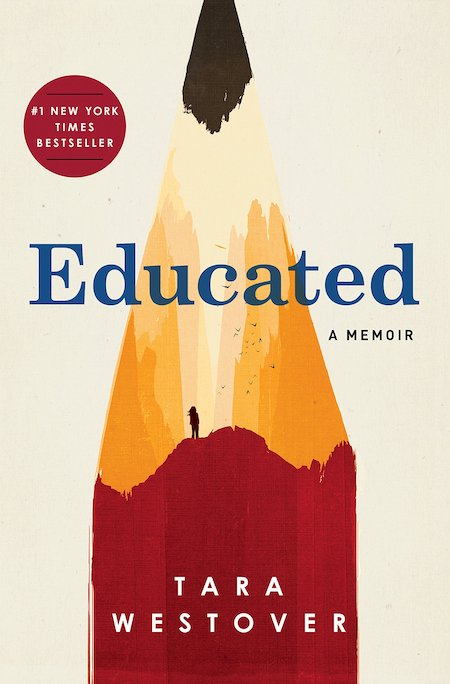 Tara Westover, <em>Educated</em>, cover illustration by Patrik Svensson