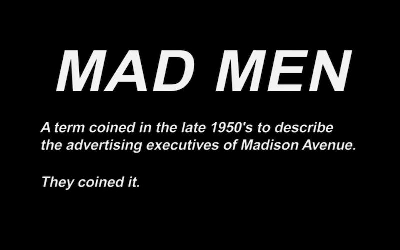 mad men definition