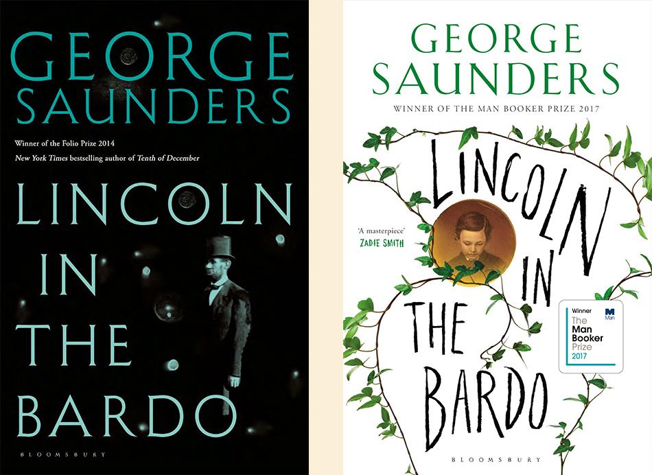George Saunders, <em>Lincoln in the Bardo</em>; design by Greg Heinemann for Bloomsbury UK, 2017