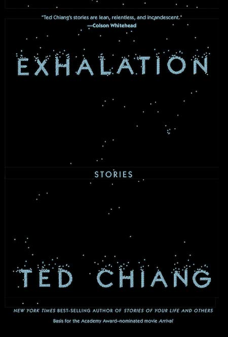 Ted Chiang, <em>Exhalation</em>, design by Na Kim (Knopf, May 7)