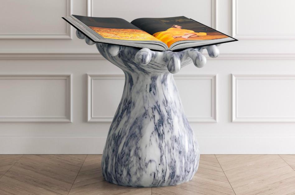 book pedestal, rich people