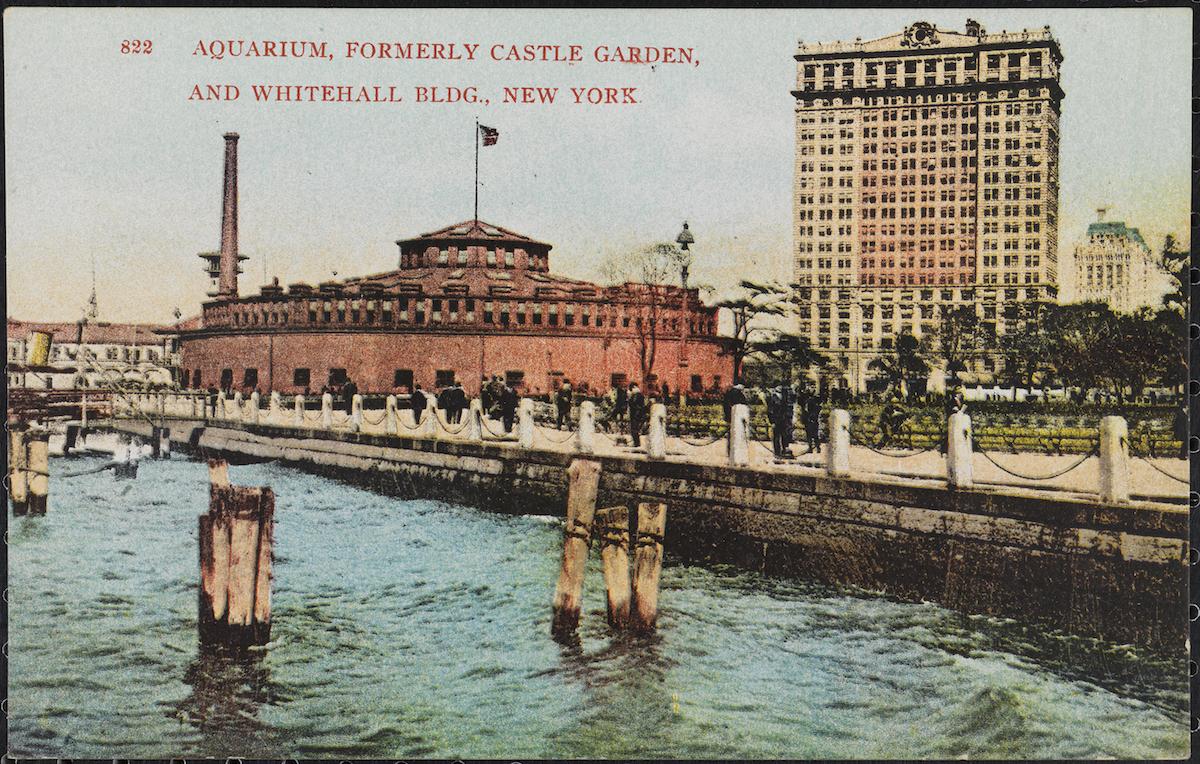 Aquarium, Formerly Castle Garden, and Whitehall Bldg., New York