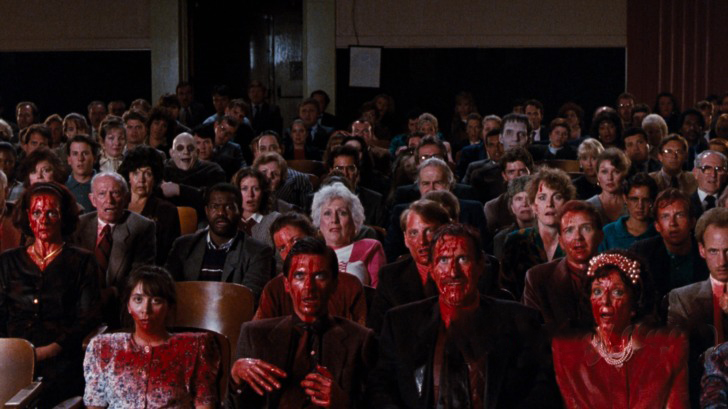 blood-covered audience