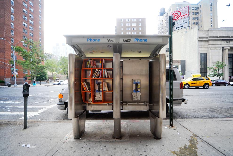 Department of Urban Betterment Phone Booth Library, Manhattan, New York City