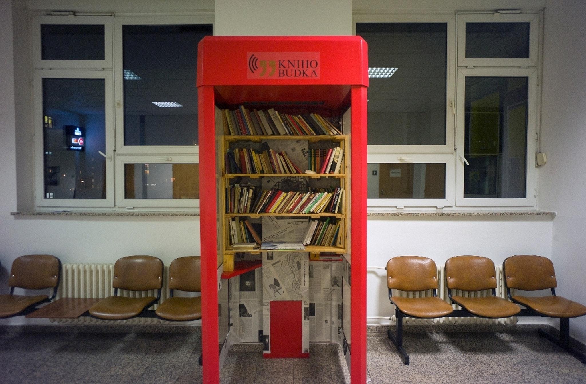 IKEM Hospital Phone Booth Library, Prague, Czech Republic