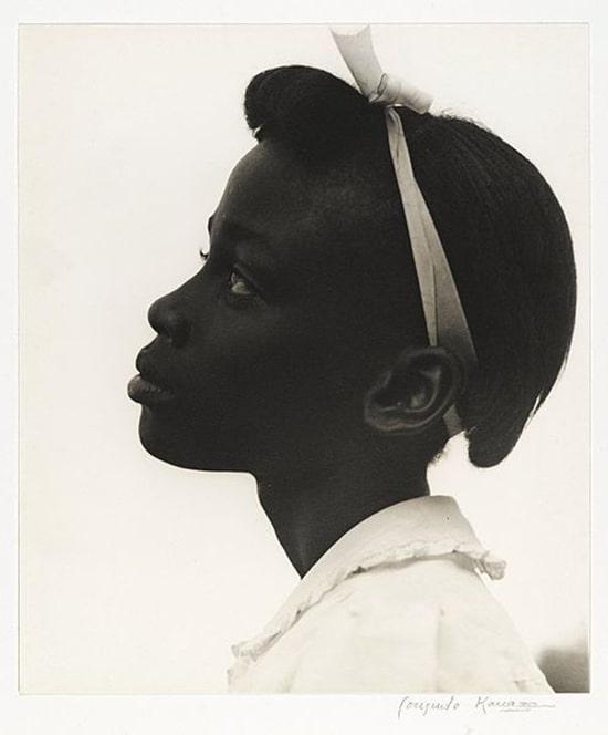 "African American Girl: ""Young Girl in Profile"" by Consuelo Kanaga, 1948"