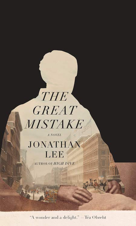 "Jonathan Lee, <a href=""https://bookshop.org/a/132/9780525658498"" target=""_blank"" rel=""noopener""><em>The Great Mistake</em></a>; cover design by TK TK (Knopf, June 15)"